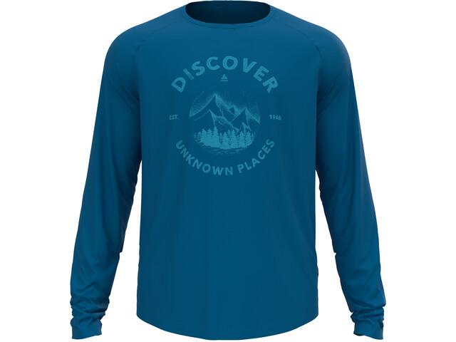 Odlo Concord T-Shirt L/S Crew Neck Men mykonos blue/discover graphic